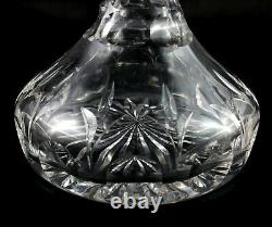 Beautiful Antique / Vintage Lead Crystal flat bottom ships decanter Wine Whisky