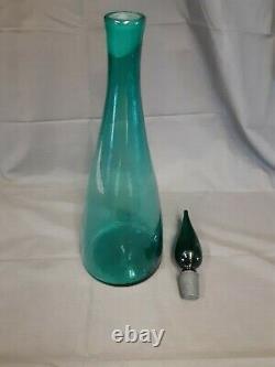 Blenko 1950's Hand Blown Vintage Art Glass Wine Decanter