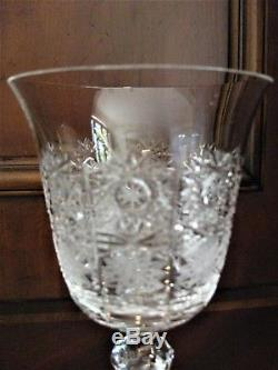 Bohemian Czech Vintage Crystal Wine Glass 170 ml set of 6 Hand Cut Queen Lace