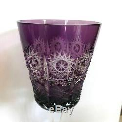 Bohemian Vintage Cut-to-Clear Wineglasses-Bonanza of 15 and a Rainbow of Color