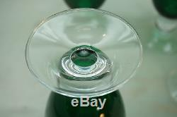 Bryce Glass Goblets Vintage Apollo Glasses Set 5 Green Crystal Water Wine Bar