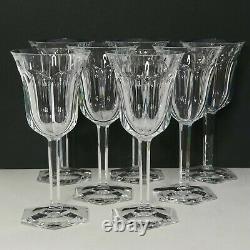 Buy 1-7 BACCARAT Malmaison WATER GOBLETS XL 8 Crystal Stemware VTG WINE GLASSES