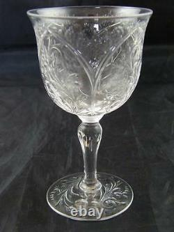 C. 1900 Antique Stevens And Williams Engraved Wine Glass