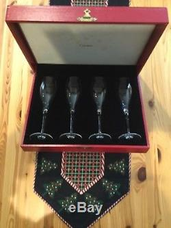 Cartier Vintage Crystal Champagne/wine Flutes