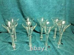 Colonial Williamsburg Crystal Air Twist Wine Glasses, Vintage