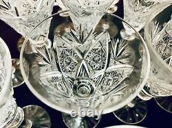 Crystal wine glassware sets (2 matching sets, 21 Glasses in total), Vintage