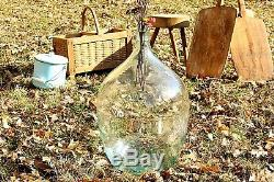 Demijohn Bottle Vintage Large Glass Demijohn Wine Bottle Clear Terrarium Bottle