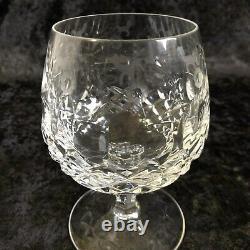 Elegant Vintage Cut Glass Liquor Decanter Set Etched Floral Design And 5 Glasses