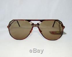 FERRARI formula F23 aviator sunglasses vintage wine red brown glasses gold