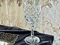 Fabulous Vintage Large Crystal Wine Glasses Hand Cut Bohemia C 1970's Set Of 6