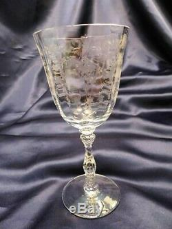 Fostoria NAVARRE CLEAR Vintage Large Claret Wine 6016 set of Three