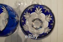 Franklin Crystal Germany 12 Glass Set Stars Of Midnight Horst Belda