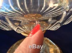 Frenchcrystal MCM Urn Vase Wine Bucket Ormalu Satyr Handles Ornate Ctr Base Vtg