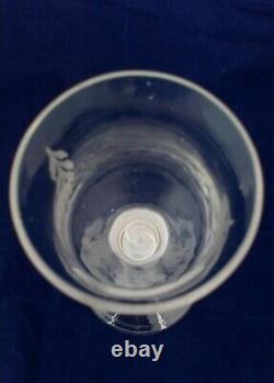 Georgian Wine Glass Opaque Twist Stem Chinoiserie Engraved Bowl Antique c 1760
