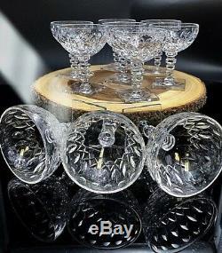 Hawkes York Pre WW2 Crystal Champagne/Sherbert 10 Glasses STEM 6027
