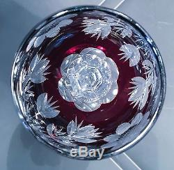 Holiday Bling Set of Four Cut Crystal Wine Goblets