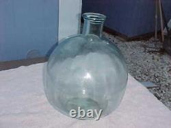 Huge Vintage Clear Glass Demijohn Jug Jar, 18 Tall, 12 Wide, 43 Circumference