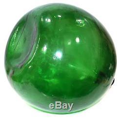 Huge Vintage Green Glass Demijohn Wine Bottle Italian Wine Carboy