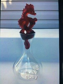 Lalique Tianlong red dragon vintage wine decanter new no original box