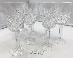 Lenox Crystal Charleston Wine Glass Goblet x 8 USA Un-used Vintage EUC