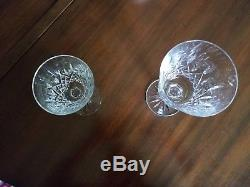 Lismore Waterford Crystal 12 Wine and 12 water Goblets. Irish vintage, perfect