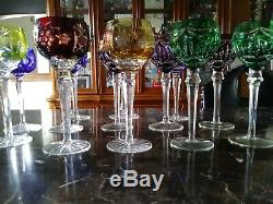 Lot Of 13 Vintage Multi-color Bohemian Cut To Clear Crystal. V E Ry Beautiful