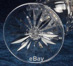 Lot of 6 Vintage Waterford Claret Wine Avoca Pattern Crystal Glasses Stemware