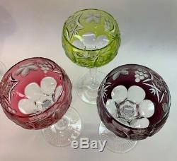 Multi-Color Crystal Wine Goblets Set of 6