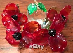 Murano Vintage Glass Frutti / Fruit Chandelier 9 arms 6 lights wine room cellar