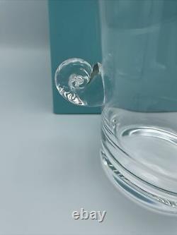 NIB Vintage TIFFANY & CO. Crystal Champagne Wine Ice Bucket with Scroll Handles