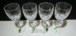 NewVINTAGE Waterford Crystal KILDARE (1973-) Set 4 Claret Wine 6 1/2 IRELAND