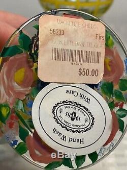 NewithUnused Vintage Retired Set of 9 MACKENZIE-CHILDS 8 oz. Wine Goblets Glasses