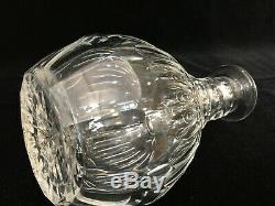 Nice Cut Crystal Glass Wine Decanter with Stopper, 10 3/4 Tall x 5 1/4 Widest