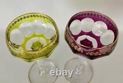 Pair of Vintage VAL ST LAMBERT Crystal Wine Glasses