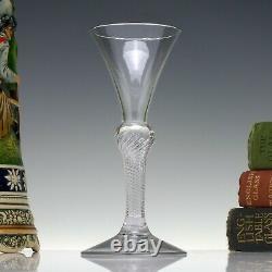 Rare Georgian Wine Glass, 18th Century Air Twist c1750