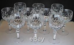 Rare Pattern Vintage Gorham Crystal La Scala Pattern Claret Wine Glasses (10)