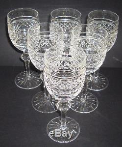 Rare VINTAGE Waterford Crystal CASTLETOWN (1968) 6 White Wine Glasses