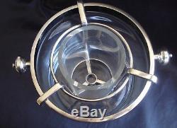 Rare Vintage Christofle Fleuron Wine-champagne-ice Bucket Glass & Silver Plate