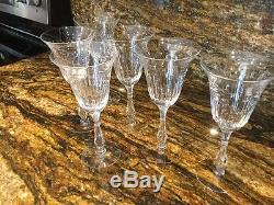 Rare Vintage Cut Crystal Wine Glasses (set Of 6) Reduced