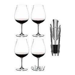 Riedel Vinum New World Pinot Noir (Set of 4) with Wine Pourer