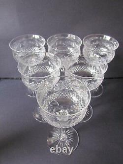 STUART CRYSTAL BEACONSFIELD INTAGLIO VINTAGE SET OF 6 HOCK WINE GLASSES(Ref3099)