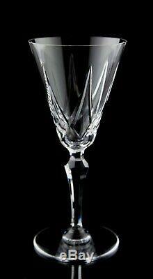 Saint Louis STL9 Wine Glasses Set of 6 Vintage Cut Crystal St. Louis France