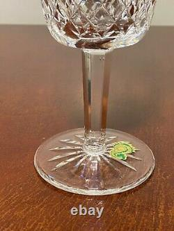 Set 12 Vintage WATERFORD CRYSTAL Lismore Large 6-7/8 Water Wine Goblets IRELAND