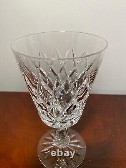 Set 8 Vintage WATERFORD CRYSTAL Kinsale Large 6.75 Water Wine Goblets IRELAND