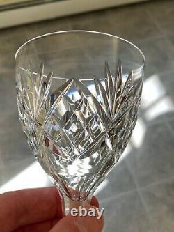 Set of 10 Vintage KOSTA BODA Helga Pattern 6 oz Crystal Wine Glasses Goblets 7in