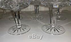 Set of 11 Vintage Waterford Crystal LISMORE Champagne Wine Sherbet Glasses