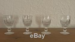 Set of 12X VINTAGE WATERFORD Irish Crystal COLLEEN Wine & Water glasses