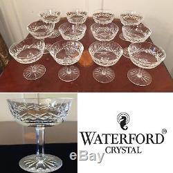 Set of 12 True Vintage WATERFORD CRYSTAL Lismore Champagne Wine Sherbet Glasses