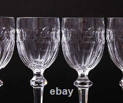 Set of 4 Vintage Waterford Crystal Curraghmore Claret Wine Glasses Excellent