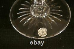 Set of 5 Vintage VAL ST LAMBERT Richepin Cut to Clear Crystal Wine Water Goblet